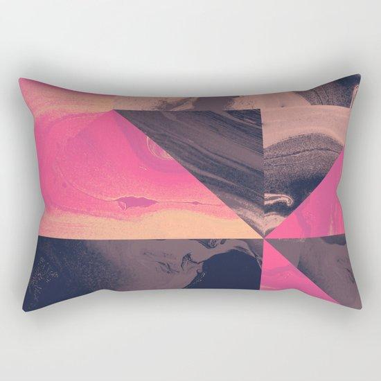Triangular Magma Rectangular Pillow