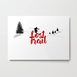 Ski at Lost Trail Metal Print