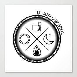 Eat. Sleep. Camp. Repeat Canvas Print