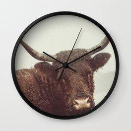 Corriente Cattle Wall Clock