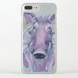 Piggy Warthog Clear iPhone Case