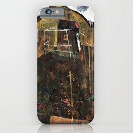 Egon Schiele - Landscape with Ravens - Digital Remastered Edition iPhone Case
