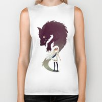 monsters Biker Tanks featuring Werewolf by Freeminds
