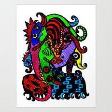 Lizard Princess Art Print