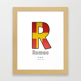Romeo - Navy Code Framed Art Print
