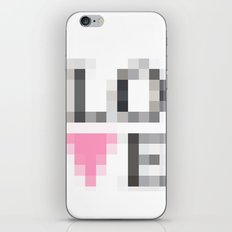 Exaggerated Pixelated LOVE iPhone Skin