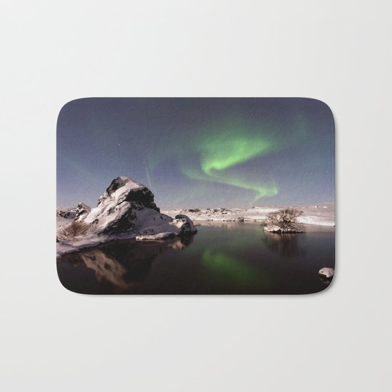 Iceland in Winter Bath Mat