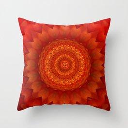 Muladhara chakra mandala Throw Pillow