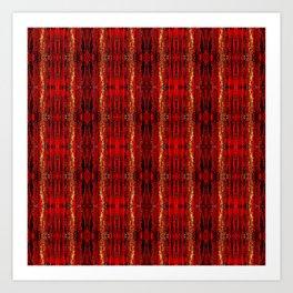 Red Gold, Old Oriental Pattern Art Print