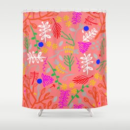 Folky garden Shower Curtain