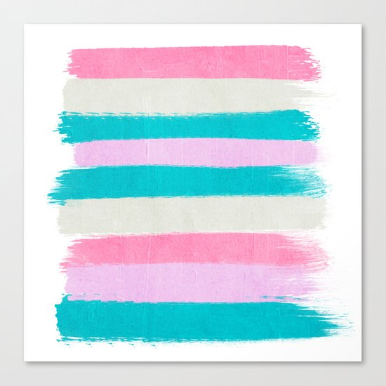 Abstract stripes painting minimal decor teal pink pastel for Pastel teal paint