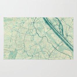 Vienna Map Blue Vintage Rug