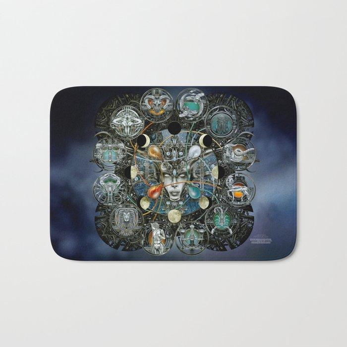 """""""Astrological Mechanism - Zodiac"""" Bath Mat"""