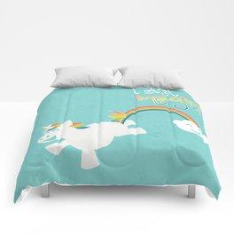 Unicorns and Rainbows - I Shi*t Magic! Comforters