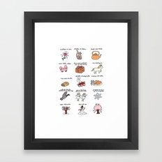 These Are a Few of My Favorite Things Framed Art Print