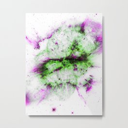 Purple Green Universe Metal Print