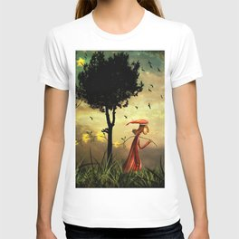 The boy collecting stars T-shirt