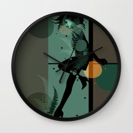 The Girl and the Moon Wall Clock