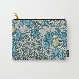 William Morris,art nouveau pattern, seaweed,blue,florals,vintage Carry-All Pouch