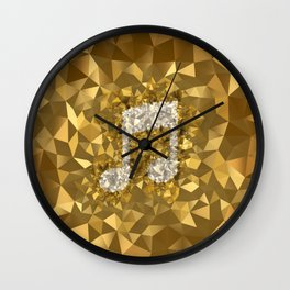 POLYNOID Music / Gold Edition Wall Clock
