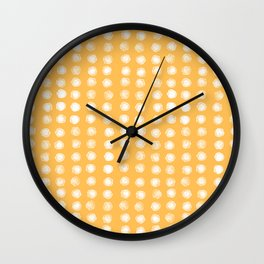 watercolor dots I Wall Clock