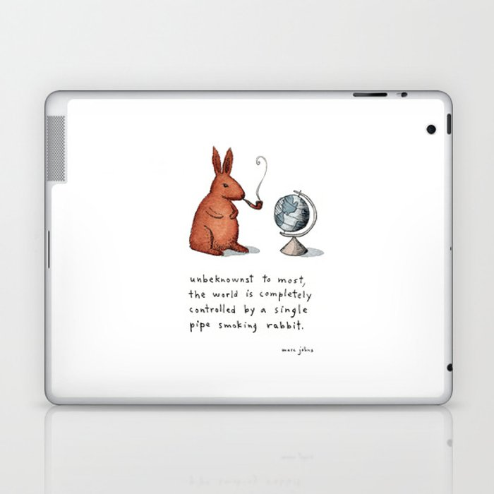 Pipe-smoking rabbit Laptop & iPad Skin