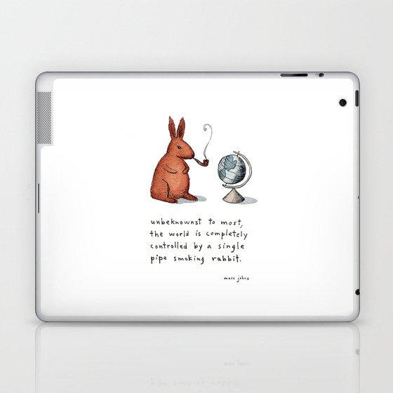 Pipe-smoking rabbit Laptop & iPad Skin