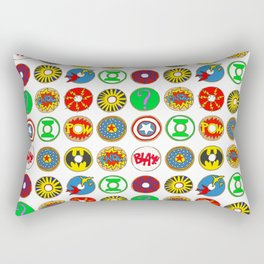 Superhero Donuts Rectangular Pillow