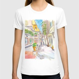 Capri Italy Crooked Alleys Stroll T-shirt