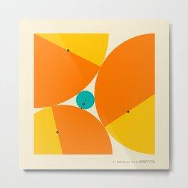 'X' MARKS THE SPOT: Descartes Theorem Metal Print