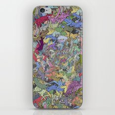 Colorful Flying Cats iPhone & iPod Skin