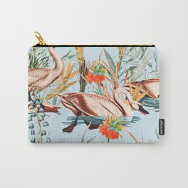 Swan floating in lake Carry-All Pouch