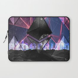 Ethereum Moon and Stars landscape Laptop Sleeve
