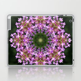 Constellation of Verbena flowers mandala Verbena bonariensis 1829 k2 Laptop & iPad Skin