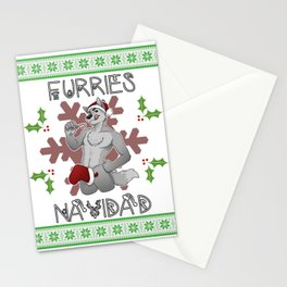 Furries Navidad Stationery Cards