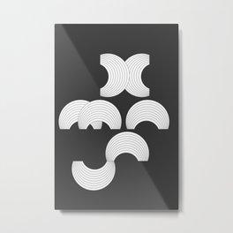 Xmas Typo Black #society6 #decor #buyart Metal Print