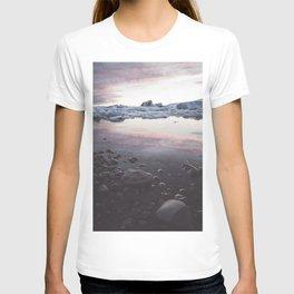 Jokulsarlon Lagoon - Sunset - Landscape and Nature Photography T-shirt