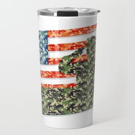 USA American Flag Gift Army Veteran Travel Mug