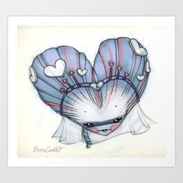 Reina de Corazones (Queen of Hearts) Art Print