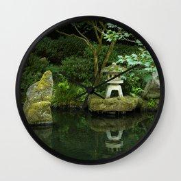 Japanese Garden Pond Wall Clock