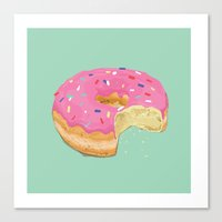 doughnut Canvas Prints featuring Doughnut by Zachary Kiernan