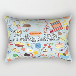 Gluttony Is Bliss Rectangular Pillow