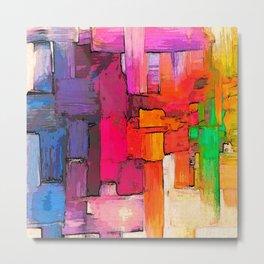 Color Interlace  Metal Print