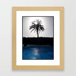 Blu palm Framed Art Print