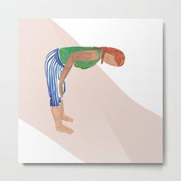 Uttanasana Yoga Pose Metal Print