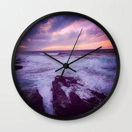 Pink Skies Wall Clock