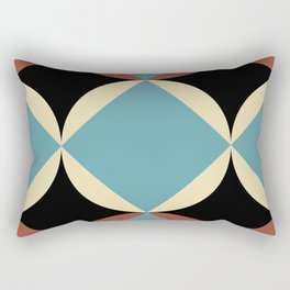 Frontal Fishes with squared blue mouths in a black deep sea. Rectangular Pillow