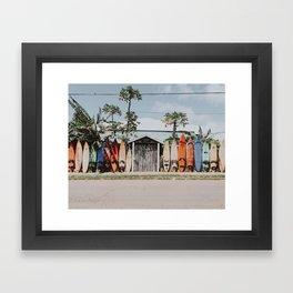 lets surf vi / maui, hawaii Framed Art Print