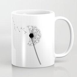 Dandelion Black and White Coffee Mug