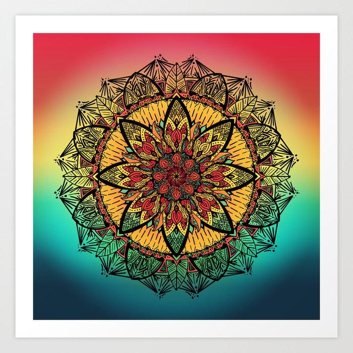 Good vibe mandala Art Print